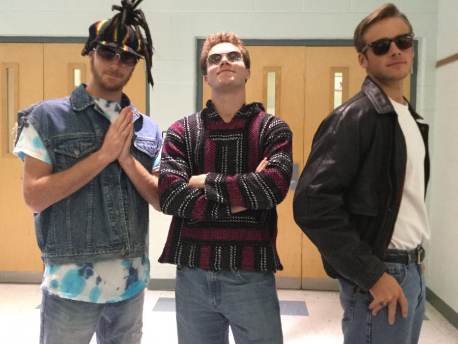 Vintage Vibes Day Vintage Vibes Day Left to right: Mark Roberts, Bryant Ricks, Bryce Trant