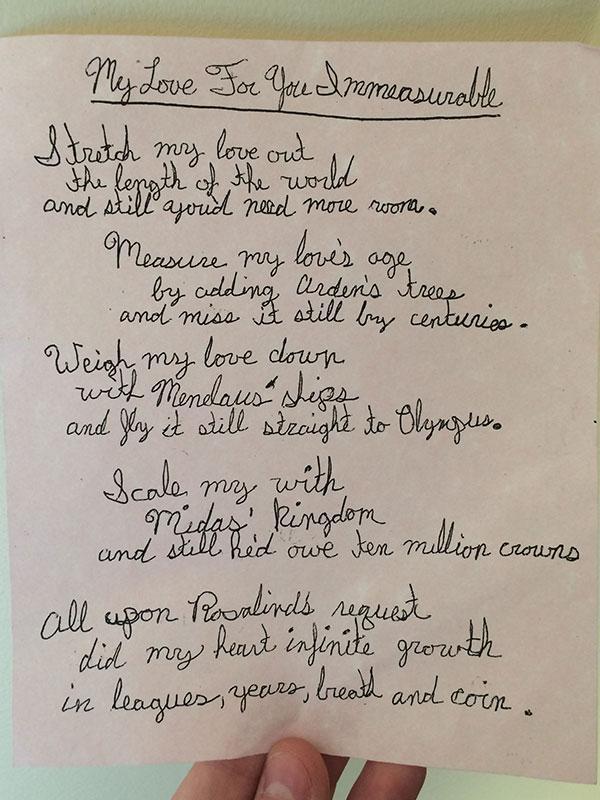 Orlandos Love Letter