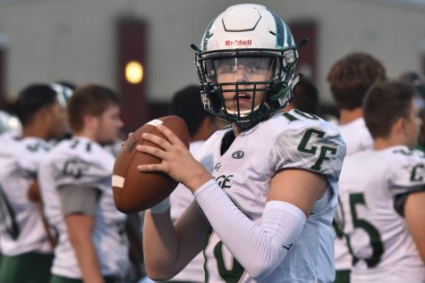 New quarterback Madden Lowe ('20) leads team to victory against Riverbend and others